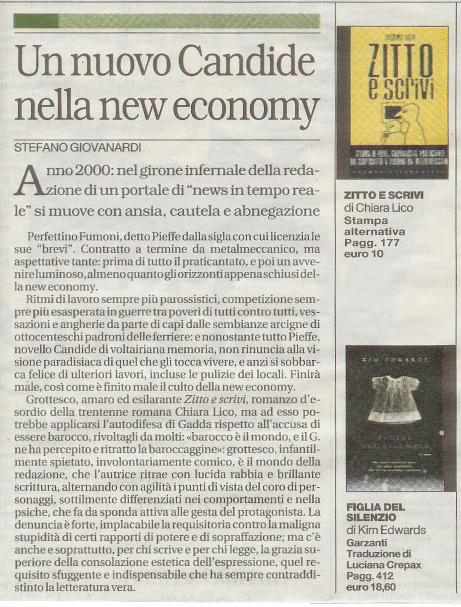 Zitto e Scrivi: recensione Repubblica